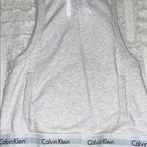 white calvin klein sweater thing